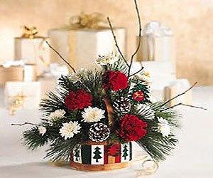 новогодние цветочные подарки